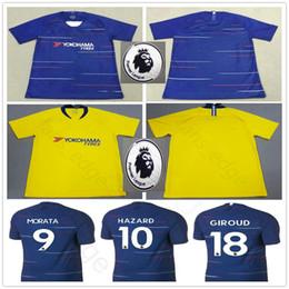 2018 2019 HAZARD Soccer Jersey GIROUD KANTE MORATA WILLIAN BARKLEY  BATSHUAYI AZPILICUETA JORGINHO Custom 18 19 Home Away Football Shirt 9b76cf150