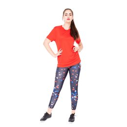 printed sport trousers UK - world cup leggings glamorous workout printed trousers stretch sexy tights sports pants yoga pencil women leggings sport pants