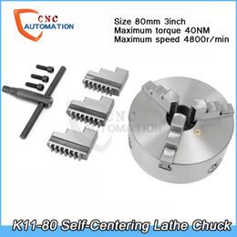 Tornillo de centraje autocentrante grado industrial de alta precisión bricolaje 3 mordazas 80 mm K11-80 con llave y tornillos de acero endurecido para fresado de perforación