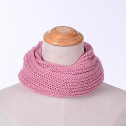 $enCountryForm.capitalKeyWord Australia - 2018 Fashion Winter Womens Children Warm Knit Neck Circle White Wool Blend Cowl Snood Scarf Bufandas De Cuello 7Colors