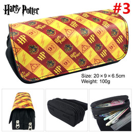 European Stationery NZ - Harry potter Pencil Pen Bag wallet Cartoon Pencil Case Students Stationery Storage Bag School Office Supply coin Puerse 40pcs T1I898