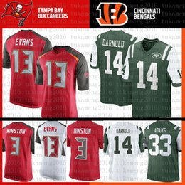 94c4729b7 New York Jets 33 Jamal Adams 14 Sam Darnold Tampa Bays Jersey Buccaneers 3  Jameis Winston 13 Mike Evans Color Rush Football Jerseys