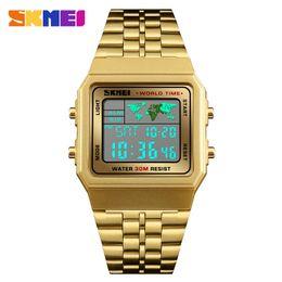 $enCountryForm.capitalKeyWord Australia - SKMEI Men Sport Watch Digital Luxury Watches World Time 12 24 Hour Clock Fashion Wristwatch Man Top Brand Bracelet for Man 1338