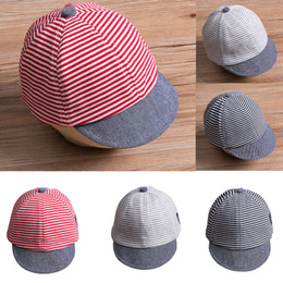 7aba40a844b Baby Girl Boy Summer Strip Casual Flat Cap Summer Newborn Baby Girls Boy  Princess Infant Sun Cap Cotton Beret Hats Striped