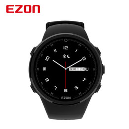 Gps Hd Australia - EZON T958 HD Color Screen Optical Heart Rate GPS Smartwatch Bluetooth Marathon Running Mens Watch for Android IOS Phone