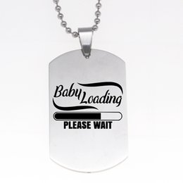 $enCountryForm.capitalKeyWord Canada - Baby Loading Please Wait Necklace Keychain Women Stainless Steel Jewelry Drop Shipping Accepted YP6169
