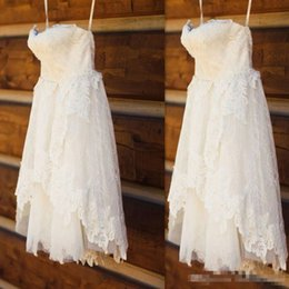 $enCountryForm.capitalKeyWord Australia - Vintage Knee Length Full Lace Short A Line Wedding Dresses Sweetheart Real Image Bridal Gowns For Garden Country Cheap 2018