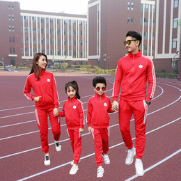 $enCountryForm.capitalKeyWord NZ - 2017 Autumn Family Clothing Sets Boy Girl Clothing Kids Clothes Mother and Daughter Son Father Sports Family Matching Outfits