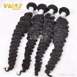 Hair Waves Online Australia - Brazilian Deep Wave Virgin Brazilian Hair Bundles 3pcs Lot 100% Curly Virgin Hair Factory Selling 8A Cheap Hair Weave Online