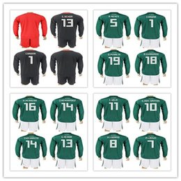 23b53ba1f ... long  customized uniforms kit 2018 world cup country jersey mexico 1  corona 13 g .ochoa black