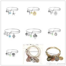 tree love bracelets 2019 - Luxury Bracelets Adjustable Charm Statement Bracelets Silver Gold Bangle With Tree Of Life Palm Wish Anchor Sea Horse Ch
