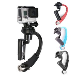 Digital viDeo stabilizers online shopping - Mini Handheld Digital Cam Stabilizer Video Steadicam C Curved Gimbal For GoPro Xiaomi Yi Camera Stabiliziers