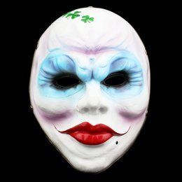 payday masks 2019 - New Halloween Mask Game Female Hijackers Cosplay Dance Maske Horror Payday Mask Collection Version Of The Resin Masquera