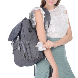 Fedex bags online shopping - 2018 Fashion Diaper bags Buckle Mummy Backpack with Changing pad Stroller straps USB charge Large capacity Multifunction Free DHL FEDEX