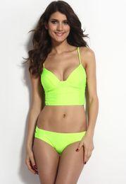 Discount black strappy push up bikini - Women Sexy Black Strappy Long Line Bandage Bikini Set Padded Bustier Tops Low Cut Bathing Suit Push Up 2pcs