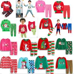 Super Sets NZ - Kids Christmas Pajamas Set Xmas Santa Elk Children Sleepwear Snowman 3D Cartoon Pyjama Cotton Nightwear Sleepcoat Super Man Hero Bedgown Hot