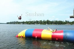 Pumping Water Air Australia - Free Shipping 7X3m 7*3m Inflatable Water Blob Jump Air Bag With Free CE Pump And Repair Kit