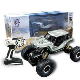 kids electric car free ship UK - Free shipping---New children's alloy four-wheel-drive climbing remote control off-road model electric high-speed mountain sports car toys
