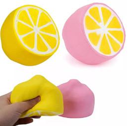 306d5426e 2018 Lemon squishy spielzeug Jumbo Langsam Steigenden rosa gelb Kawaii  Squishy Squeeze Spielzeug Neuheit Artikel 50 STÜCKE 2 farben 11 * 9,6 cm