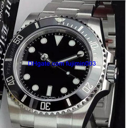 Black face watches online shopping - Hot sell Automatic watch mm luxury brand men Black face No date model AAA watches machinery stainless steel