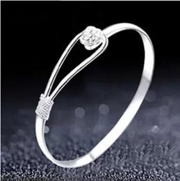 $enCountryForm.capitalKeyWord NZ - Romantic flower bracelet 925 sterling silver bracelet for women Fahion Sakura Bracelets Open Cuff Bangle Rose Bracelets Wedding Jewelry