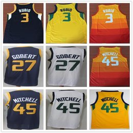 Wholesale City Edition Orange  3 Ricky Rubio Jersey Blue Stitched  27 Rudy  Gobert Jersey White Yellow  45 Donovan Mitchell Jerseys 3af41fa29