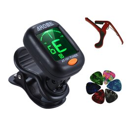 Fender Basses UK - Aroma AT-101 Mini Chromatic Bass Violin Ukulele Guitar Tuner + Capo + 6 Picks