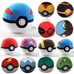 Wholesale Plush Toy Ball toys Pikachu Dolls inch CM Jolteon Umbreon Flareon Eevee Espeon Vaporeon Bulbasaur Squirtle Mon Go Dolls opp bags