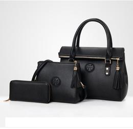 Best tote Bag pockets online shopping - Best selling explosions luxury handbags ladies shoulder bag designer handbag fashion piece combination package free shopping
