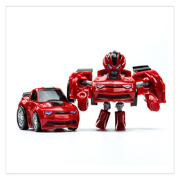 cute boys models UK - Pocket Transformation Robot Car Toy Cute Mini Deformation Car Model Toys Present for Boys Superior quality Wholesale