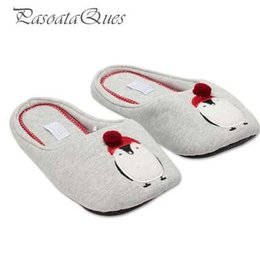 $enCountryForm.capitalKeyWord Australia - Cotton Cute Penguin Animal Pattern Home Slippers Women Indoor Shoes For Bedroom House Adult Guest Warm Winter Soft Bottom Flats