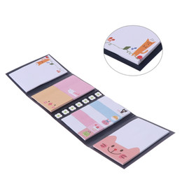 leaf note pad UK - Cute Cartoon Animal Sticky Note Memo Pad Notebook Label Stationery Gift