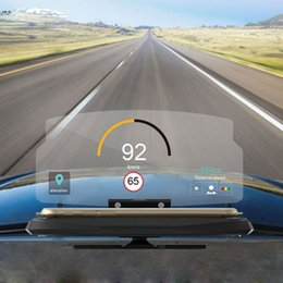 Car Heads Up Display Australia - 6.5 inch HUD Screen Head Up Display Car Safety Auto GPS Navigation Mobile Phone Holder Projector High Definition Reflect