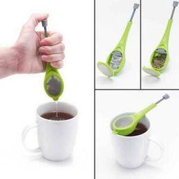 Tea sTeeper online shopping - Total Tea Infuser Gadget Measure Swirl Steep Stir And Press Food Grade PlasticTea Coffee Strainer Tea Tools CCA8543