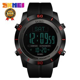 $enCountryForm.capitalKeyWord UK - SKMEI 1354 Compass Calorie Digital Wristwatch Men Outdoor Sport Design Electronic LCD Clock Countdown Relogio Masculino