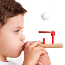 $enCountryForm.capitalKeyWord NZ - Hot! 3sets Montessori Materials Baby Wooden Blow Hobbies Outdoor Fun Sports Toy Ball Foam Floating Ball New Sale
