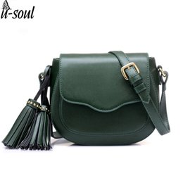 Ladies Cross Handbags NZ - women bag female tassel mini shoulder bag handbag long belt lady messenger casual pu leather cross body purse SC0459