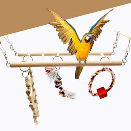 $enCountryForm.capitalKeyWord UK - wholesale Parrot Toys Parrot Climbing Net Hanging Ladder Bridge Macaw Cage Chew Decoration Bird Toys Pet Supplies