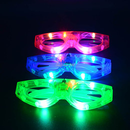 wholesale club costume NZ - Kids Adult Blinking LED Square Shaped Eye glasses Party Light Up Flashing Party Club Cosplay Costume Accessories