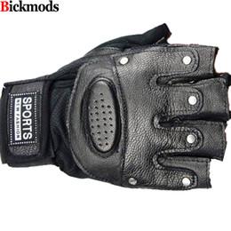 Men Gloves Leather Sheepskin Australia - Fingerless gloves New Arrival Adult 2017 Men Half-finger Leather Gloves Sheepskin Driving Sports Design Perfect Qualitry