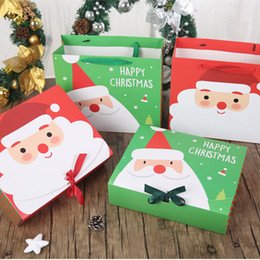 $enCountryForm.capitalKeyWord Canada - 100pcs lot New arrival Merry Christmas Gift Box Bag Santa Claus gift bag Paper Box Gift Bag Container Supplies