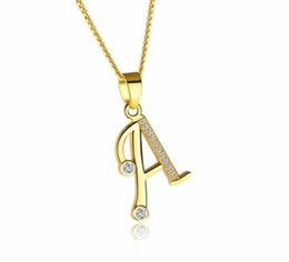 $enCountryForm.capitalKeyWord Canada - Alphabet A-Z Letter Necklace For Women Initial Name Pendant Pave Zirconia Gold Color Female Monogram Valentine's Gift