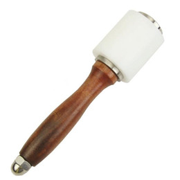 Wholesale New Nylon Hammer Leather craft Carving Hammer Sew Leather Cowhide Tool Kit with Wooden Handle