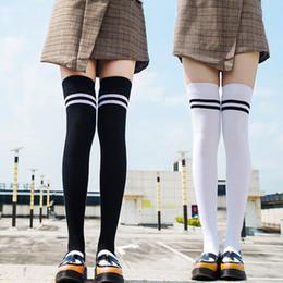 ad88223f9 White Knee High Socks Stripes Canada - HIRIGIN 2017 Winter Warm Socks For  Girls Womens Over