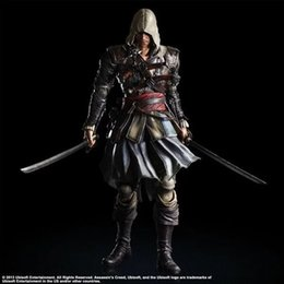 Discount pvc assassins creed toy 2018 Brinquedos Funko Movies Model Pa Change Assassin Creed 4 Flag Edward Ken Power Hand Do Joint Can Action New Free Sh