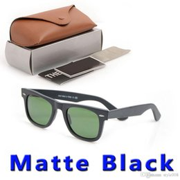 sun glasses black Australia - new Matte Black sunglasses mens sun glasses glass Lens Plank sunglasses High Quality womens glasses 100% UV protection Sun glasses with case