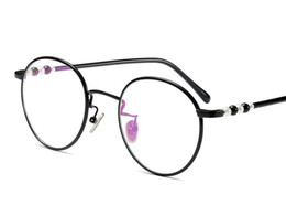 1e4b626322 With myopia glasses retro round glasses frame female Korean version of flat  glasses frame ultra-light literature and art