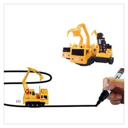 $enCountryForm.capitalKeyWord Australia - Hot Sale Magic Mini Pen Inductive Toy Car Excavator Model Follow Any Draw lines Toys For Children Present