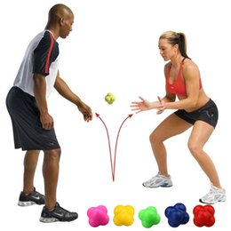 Level Ball NZ - Hexagonal Ball 2 Levels Silicone Solid Fitness Agility Coordination Reflex Exercise Workout Equipment Training Reaction Ball