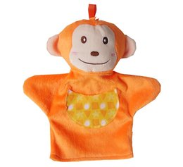 cute puppets UK - Puppet toy New Baby hand puppet Doll Infant baby toys cute animal plush toy for children 2017 summer kids Toy TO199